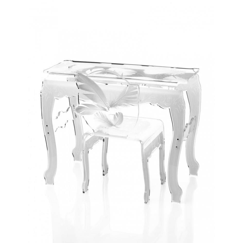 chaise design ergonomique et stylis e au meilleur prix plume chaise design en plexi blanc. Black Bedroom Furniture Sets. Home Design Ideas