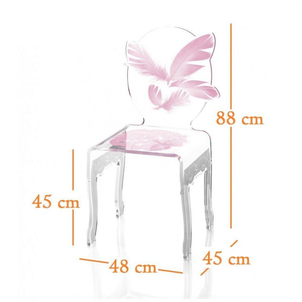 chaise design ergonomique et stylis e au meilleur prix plume chaise design en plexi rose. Black Bedroom Furniture Sets. Home Design Ideas