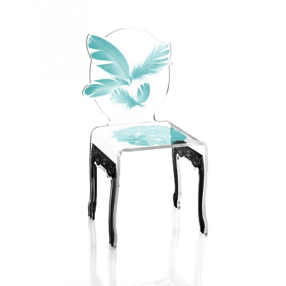 chaise design ergonomique et stylis e au meilleur prix plume chaise design en plexi bleu. Black Bedroom Furniture Sets. Home Design Ideas