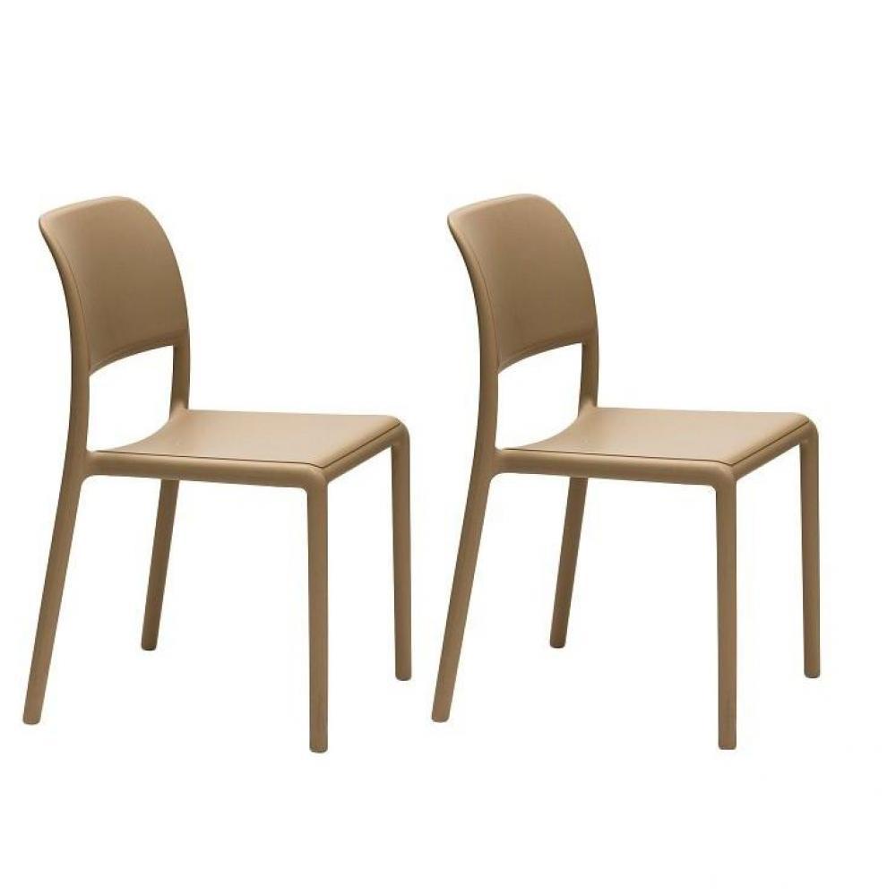 Chaise design ergonomique et stylis e au meilleur prix lot de 2 chaises rive - Chaises empilables design ...