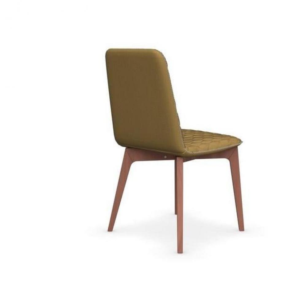 chaise design ergonomique et stylis e au meilleur prix chaise sami pi tement noyer assise tissu. Black Bedroom Furniture Sets. Home Design Ideas