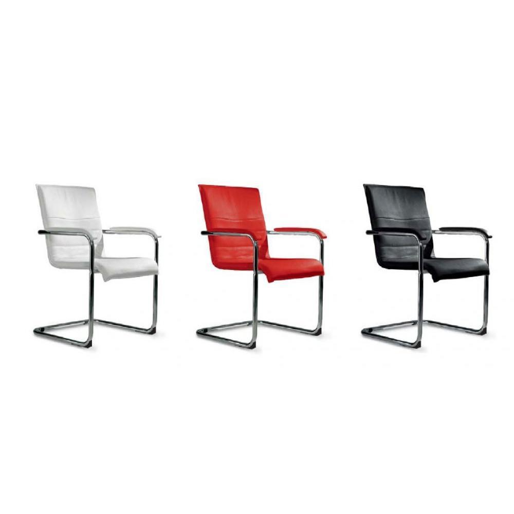 Chaise design ergonomique et stylis e au meilleur prix chaise cubika design - Chaise en cuir rouge ...