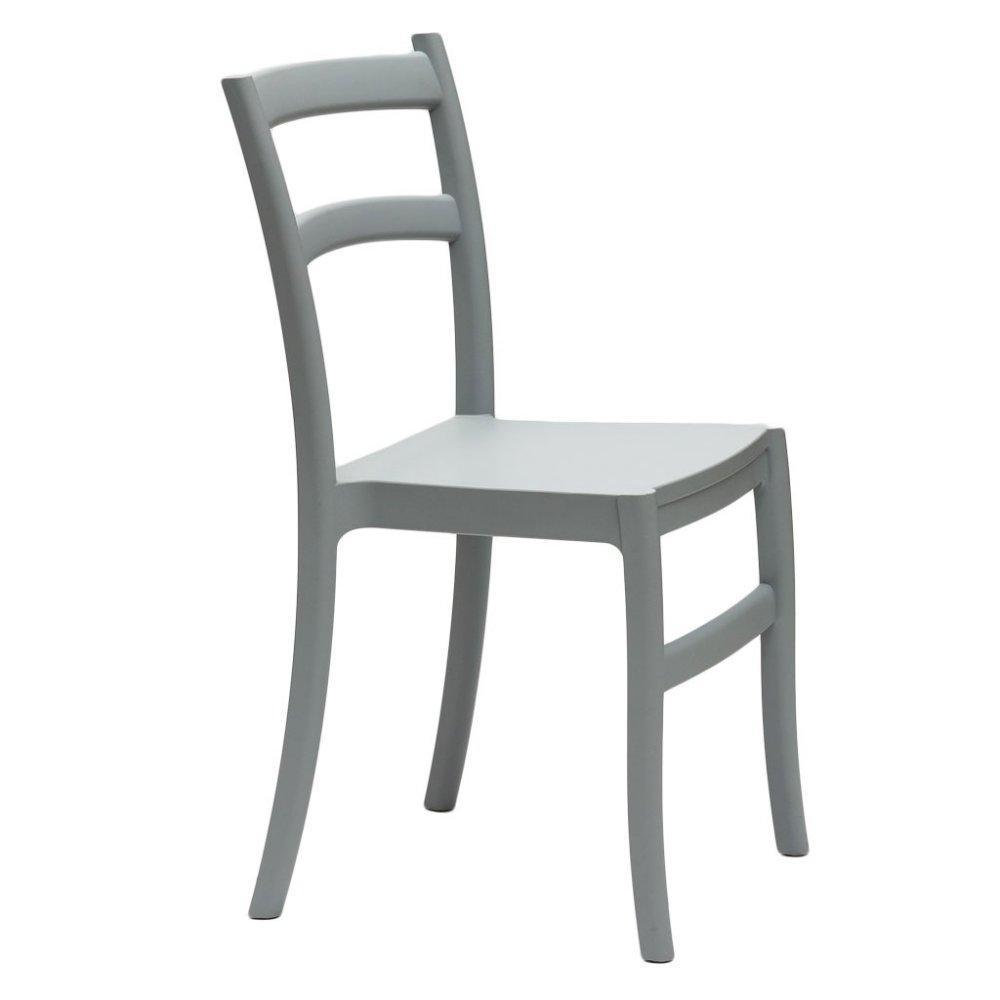 Lot de 2 chaises VENEZIA design polypropylène gris