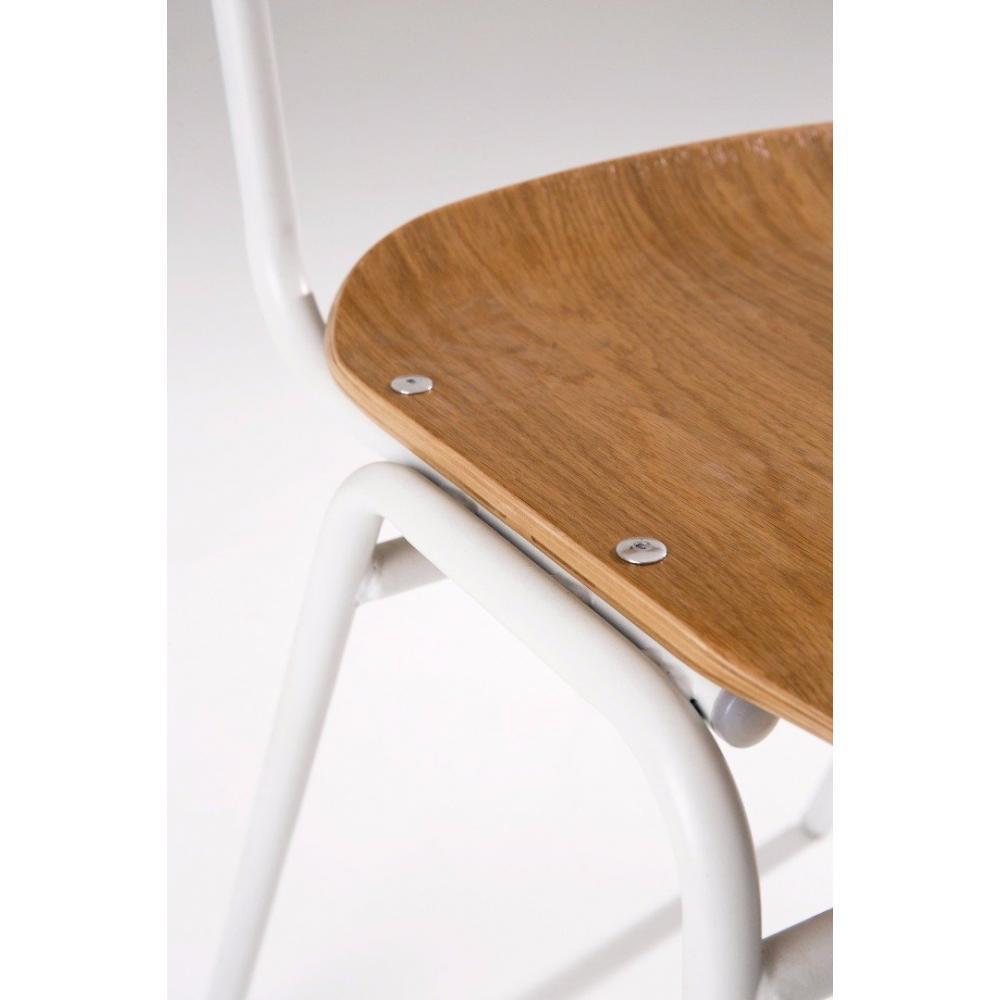 Chaise design ergonomique et stylis e au meilleur prix - Chaises blanc et bois ...