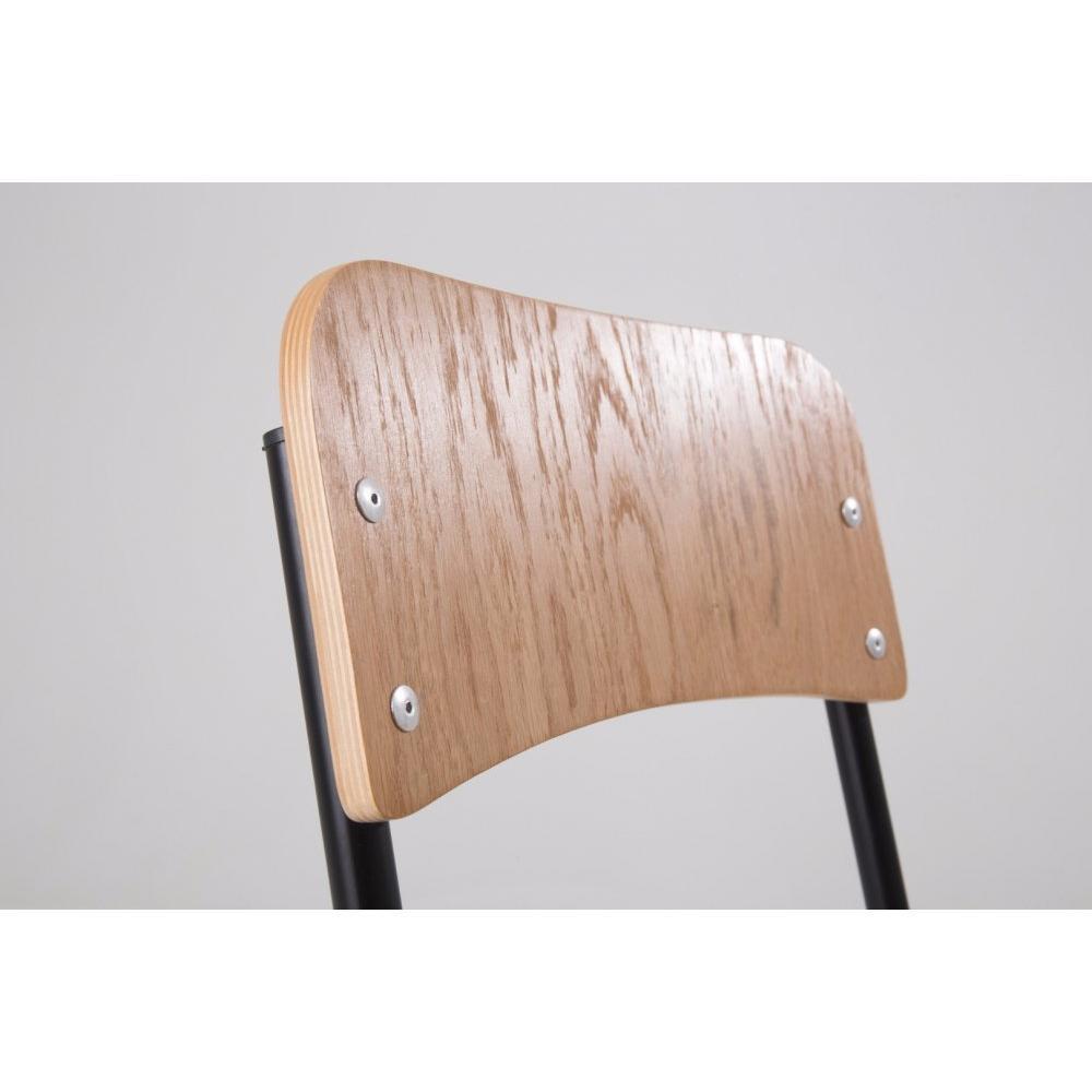 Chaise design ergonomique et stylis e au meilleur prix chaise ecolier noir e - Chaise noire et bois ...
