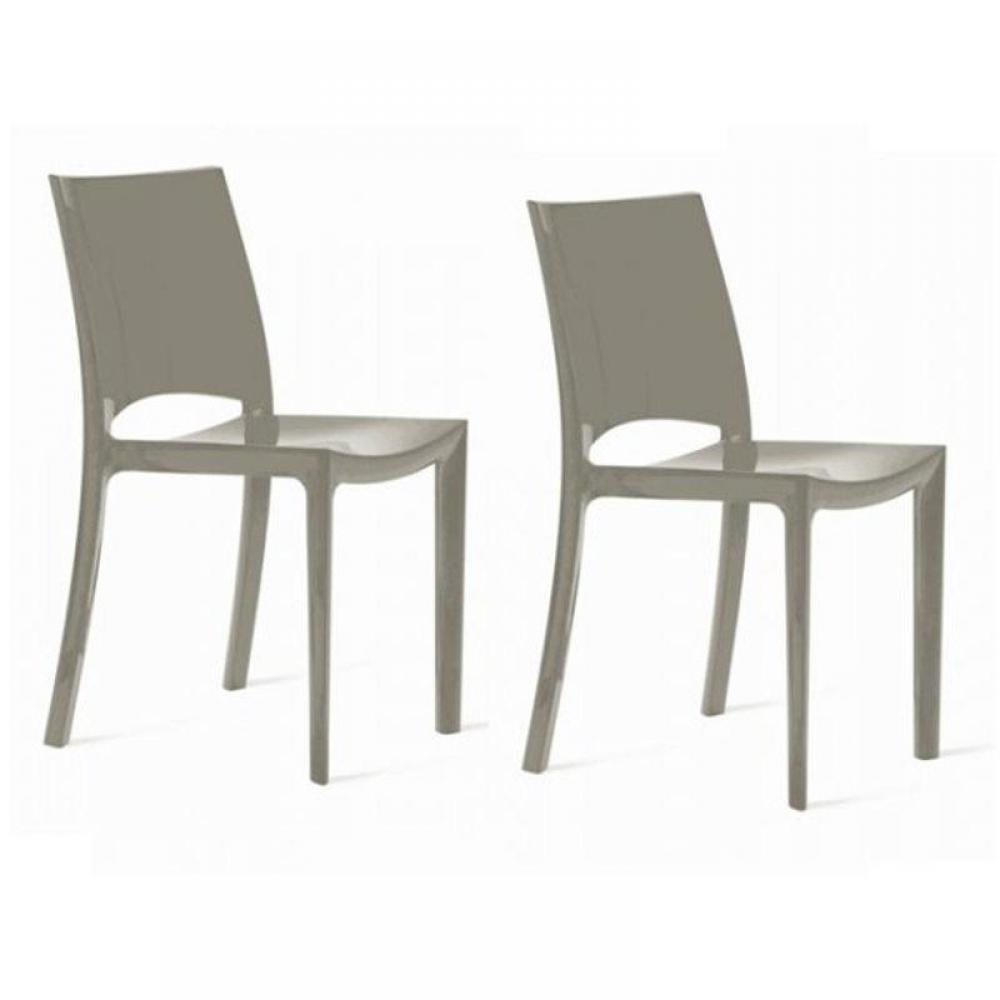 Chaise design ergonomique et stylis e au meilleur prix lot de 2 chaises suns - Chaises empilables design ...