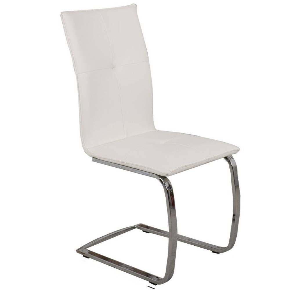 Tables design au meilleur prix table design extensible - Chaise simili cuir blanc ...