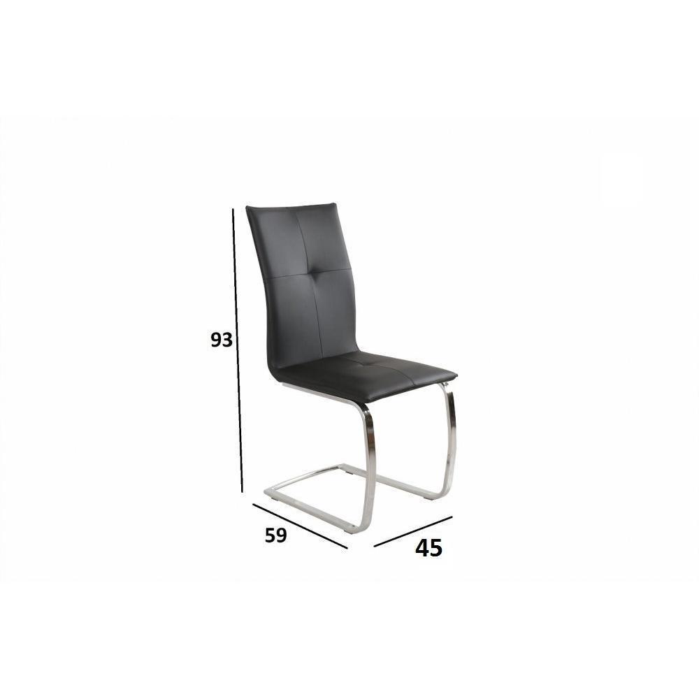 Chaise design ergonomique et stylis e au meilleur prix chaise design swing e - Chaise cuir noir design ...