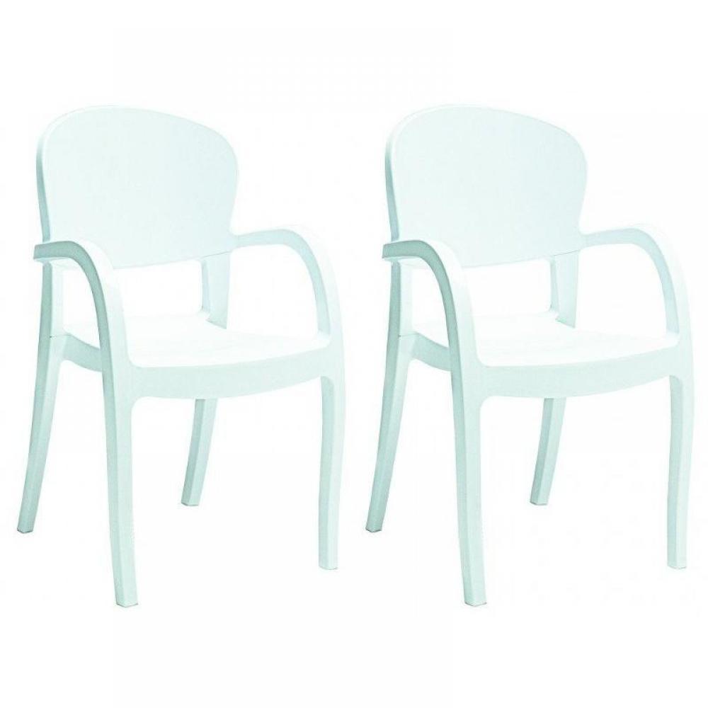 Chaises meubles et rangements lot de 2 chaises temptress empilable design b - Chaise design empilable ...
