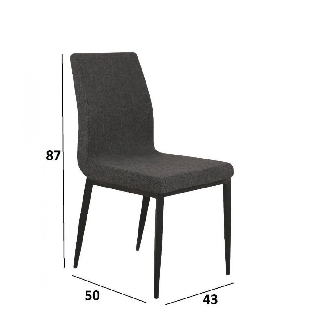 chaise design ergonomique et stylis e au meilleur prix chaise vip design tissu noir inside75. Black Bedroom Furniture Sets. Home Design Ideas