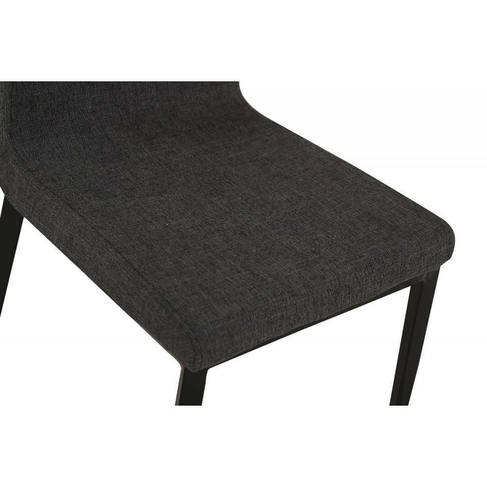 canap s convertibles ouverture rapido chaise vip design tissu noir inside75. Black Bedroom Furniture Sets. Home Design Ideas