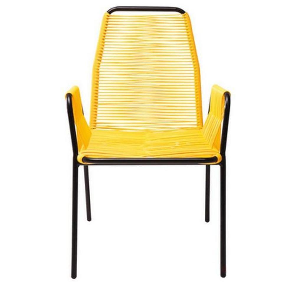 chaise design ergonomique et stylis e au meilleur prix chaise avec accoudoirs wicker jaune. Black Bedroom Furniture Sets. Home Design Ideas