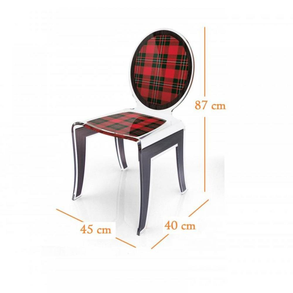 chaises meubles et rangements wild chaise design en plexi tweed rouge par acrila inside75. Black Bedroom Furniture Sets. Home Design Ideas