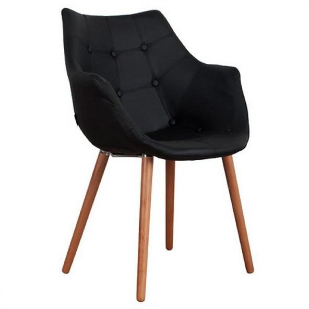 Chaises meubles et rangements zuiver fauteuil twelve rev tement polyur thane pu noir inside75 for Chaise zuiver