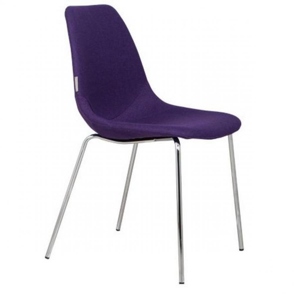 Chaises meubles et rangements chaise zuiver fifteen violette avec pieds chrom inside75 for Chaise zuiver