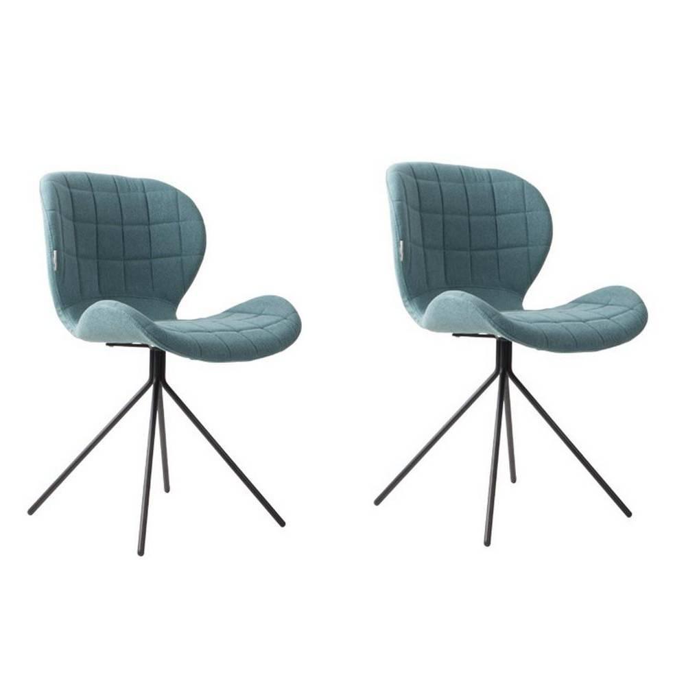 chaise design ergonomique et stylis e au meilleur prix zuiver chaise omg bleue inside75. Black Bedroom Furniture Sets. Home Design Ideas