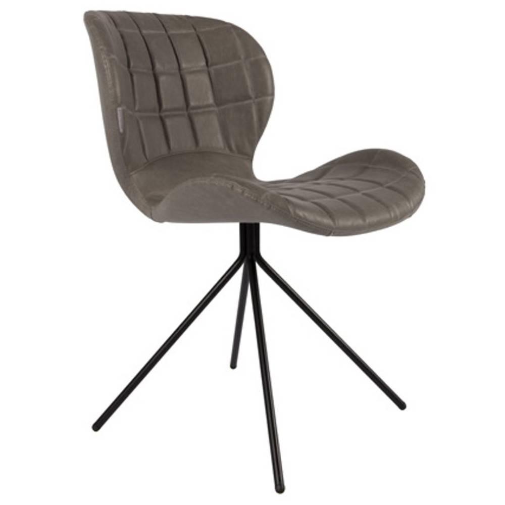 chaise design ergonomique et stylis e au meilleur prix zuiver chaise omg ll similicuir gris. Black Bedroom Furniture Sets. Home Design Ideas