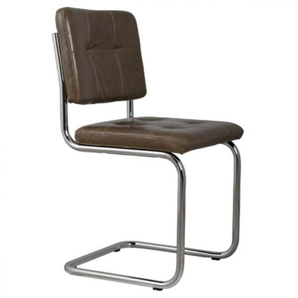 chaise design ergonomique et stylis e au meilleur prix zuiver chaise ridge leather cuir taupe. Black Bedroom Furniture Sets. Home Design Ideas