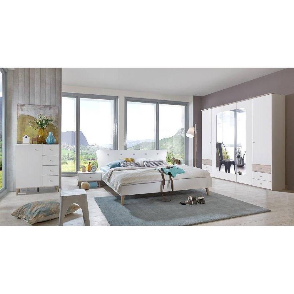 Ensembre chambre à coucher 5 pièces VIBORG 180*200cm style scandinave