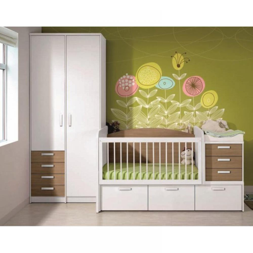 chambre enfant chambre literie chambre b b volutive en chambre d 39 enfant konala couchage. Black Bedroom Furniture Sets. Home Design Ideas