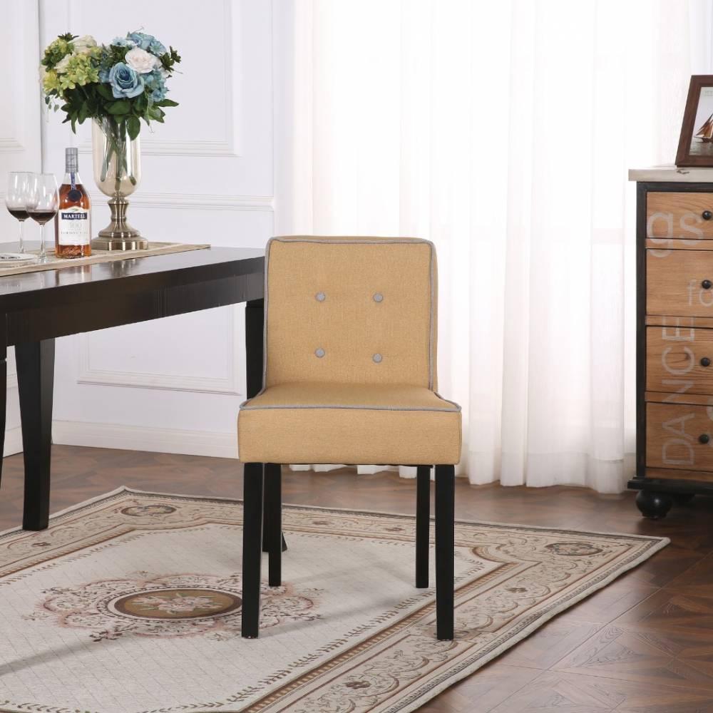 canap convertible au meilleur prix chaise design contemporain charlemagne tissu lin jaune. Black Bedroom Furniture Sets. Home Design Ideas
