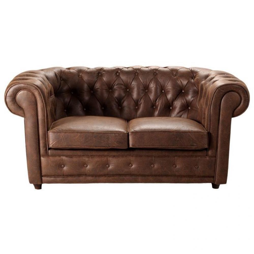 canap chesterfield en cuir velour au meilleur prix canap chesterfield deluxe 2 places. Black Bedroom Furniture Sets. Home Design Ideas
