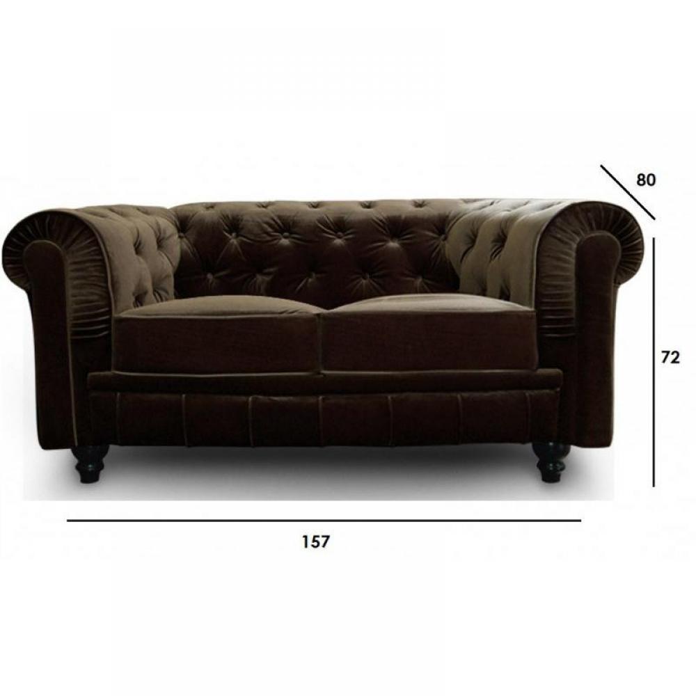 Canap fixe confortable design au meilleur prix canap fixe chesterfie - Canape type chesterfield ...
