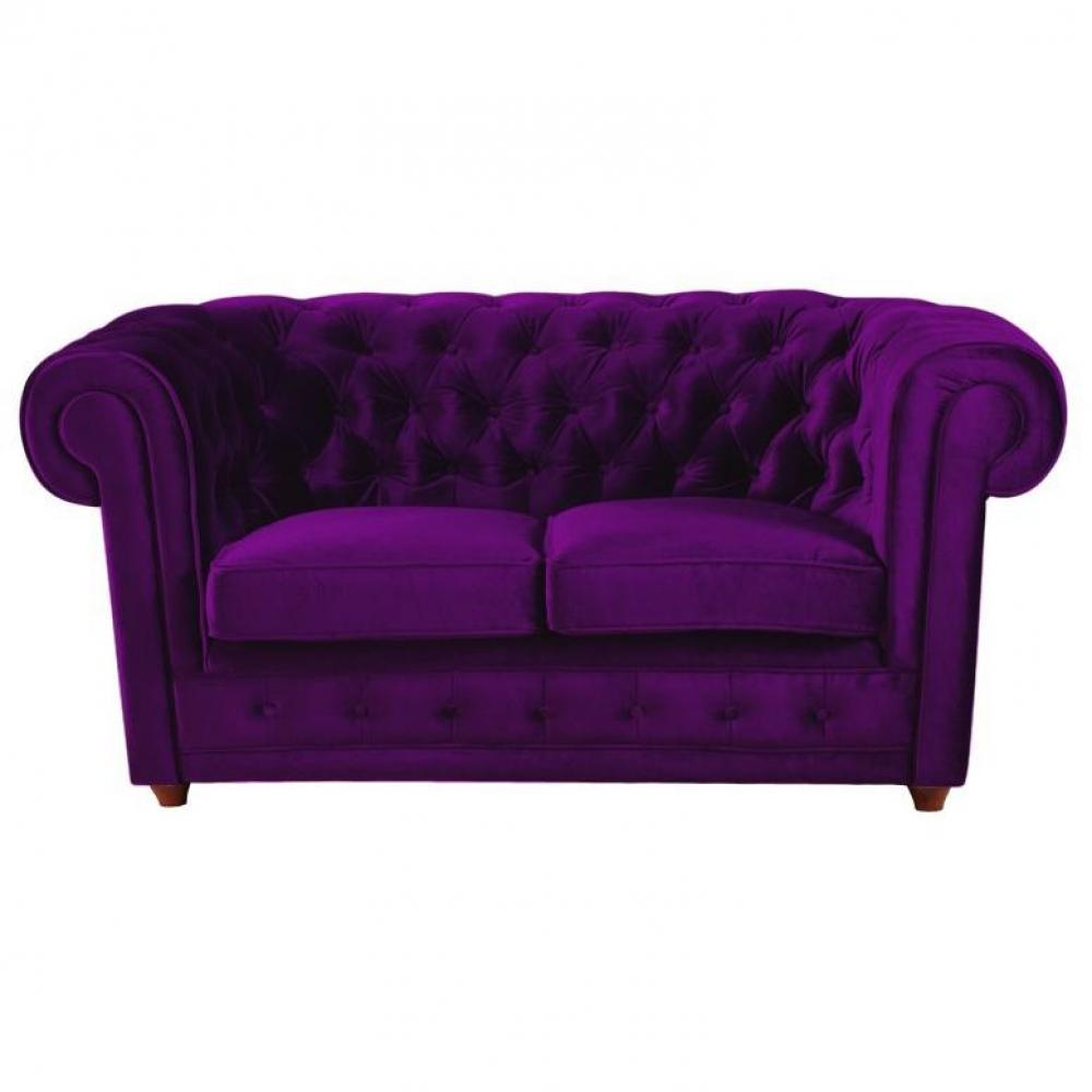 Canap chesterfield en cuir velour au meilleur prix for Canape chesterfield en velours