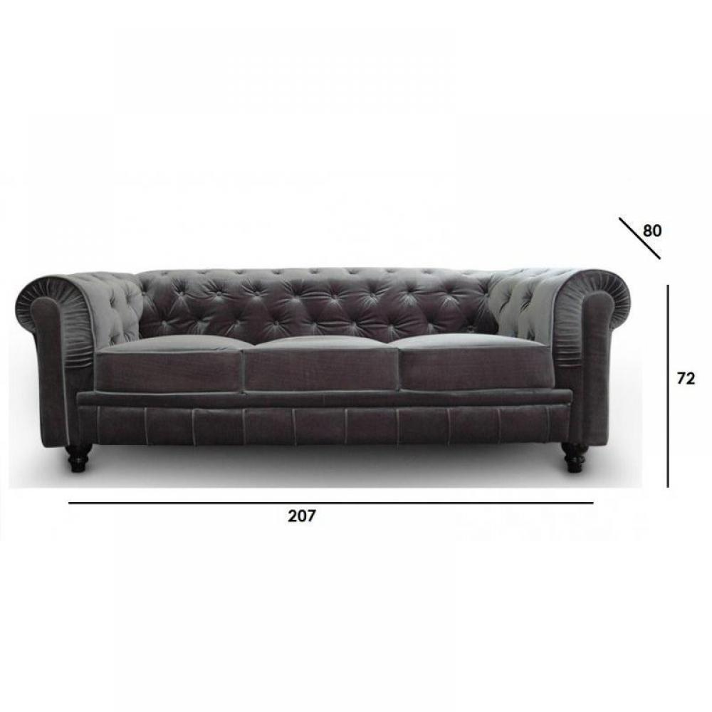 canap chesterfield en cuir velour au meilleur prix canap fixe chesterfield royal 3 places. Black Bedroom Furniture Sets. Home Design Ideas