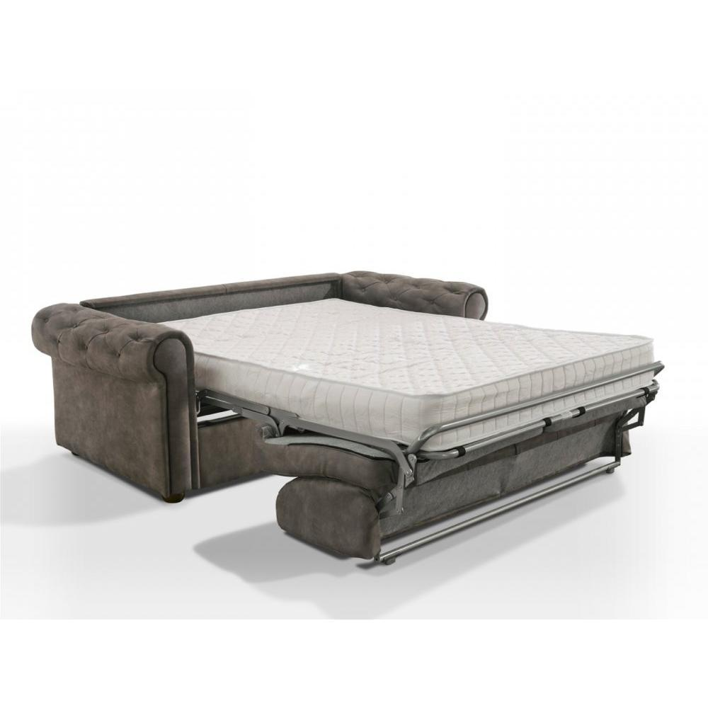 Canapé lit 3-4 places CHESTERFIELD Express convertible EXPRESS 160 cm matelas 16 cm