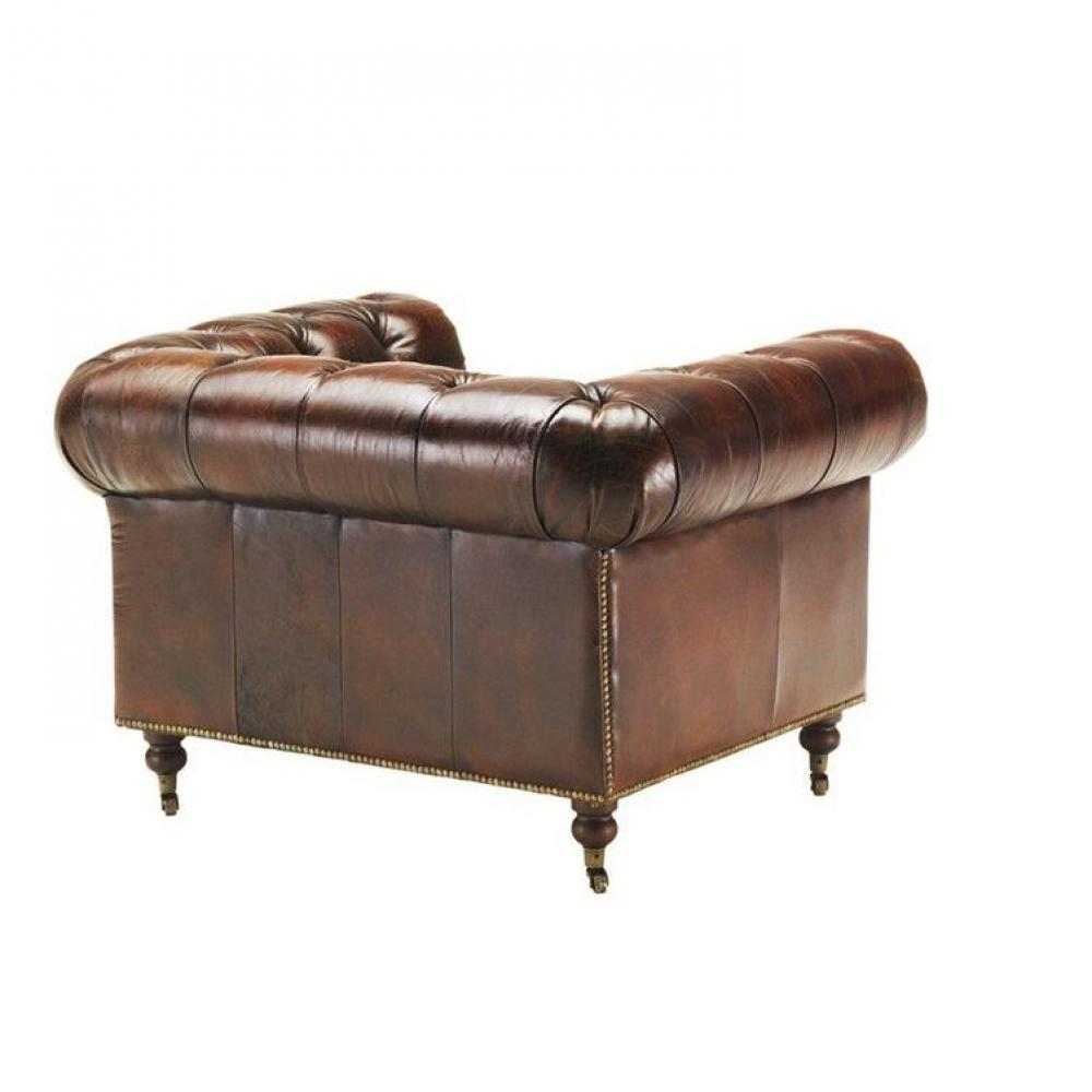 canap s convertibles ouverture rapido fauteuil chesterfield vintage en cuir v ritable marron. Black Bedroom Furniture Sets. Home Design Ideas