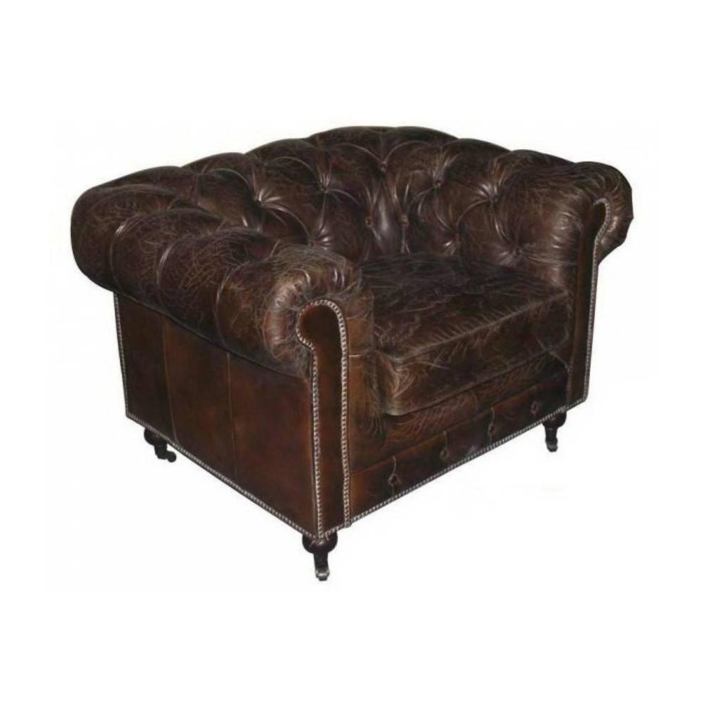 Fauteuil chestefield au meilleur prix fauteuil fixe xl chesterfield v ritabl - Fauteuil cuir marron vintage ...