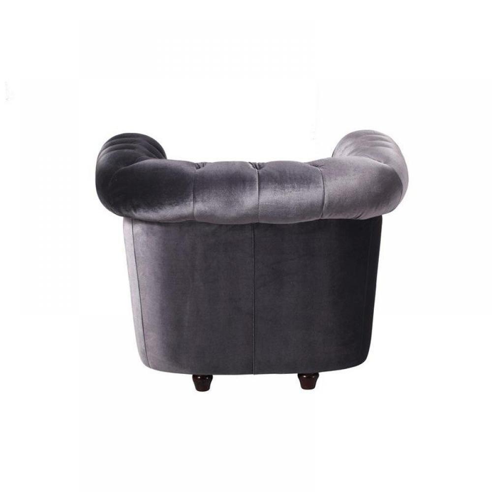 Fauteuils et poufs canap s ouverture express fauteuil chesterfield deluxe e - Fauteuil chesterfield velours gris ...