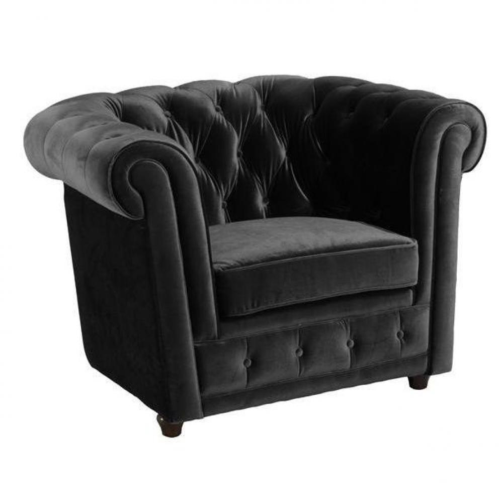 canap chesterfield en cuir velour au meilleur prix fauteuil chesterfield deluxe en velours. Black Bedroom Furniture Sets. Home Design Ideas