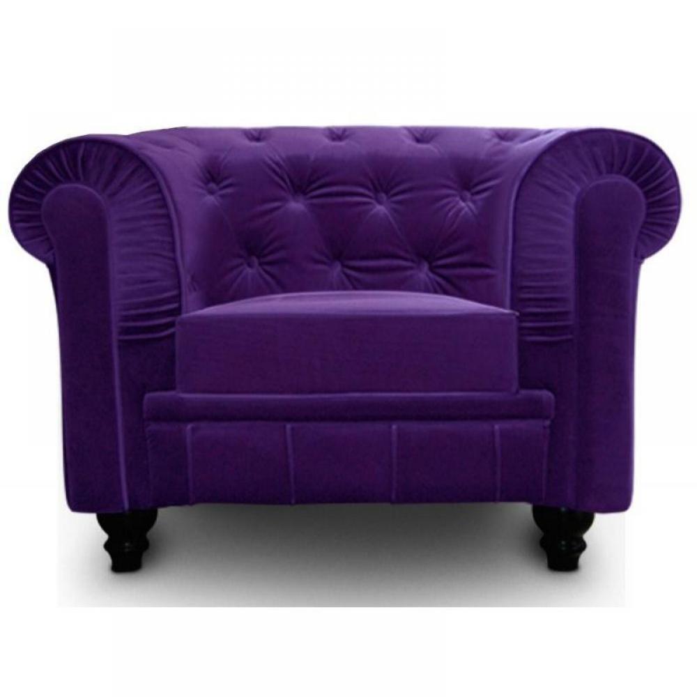 Meubles cuisine meubles et rangements fauteuil fixe chesterfield royal en v - Fauteuil club velours ...