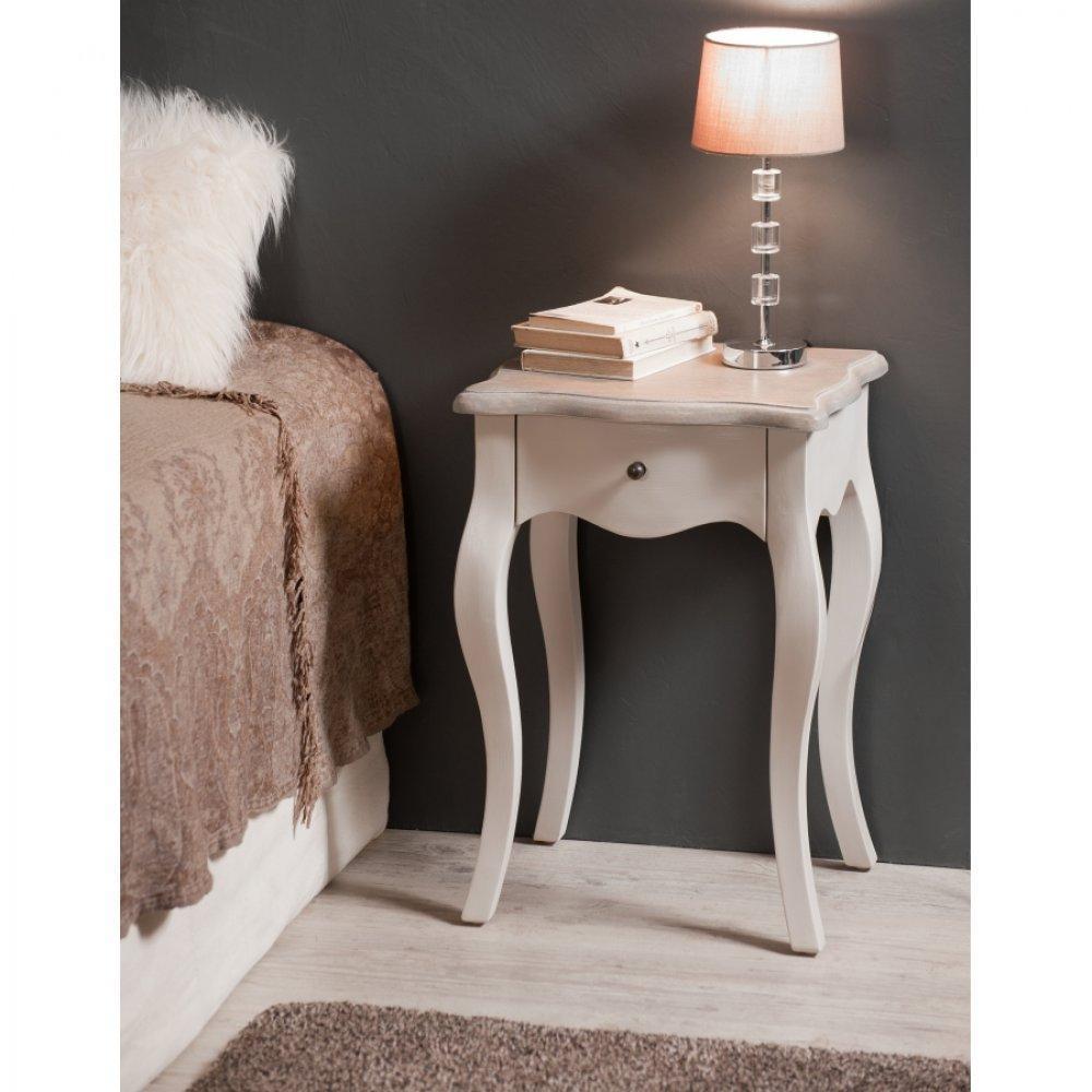 chevets meubles et rangements chevet baroque 1 tiroir montreal coloris argile en manguier. Black Bedroom Furniture Sets. Home Design Ideas