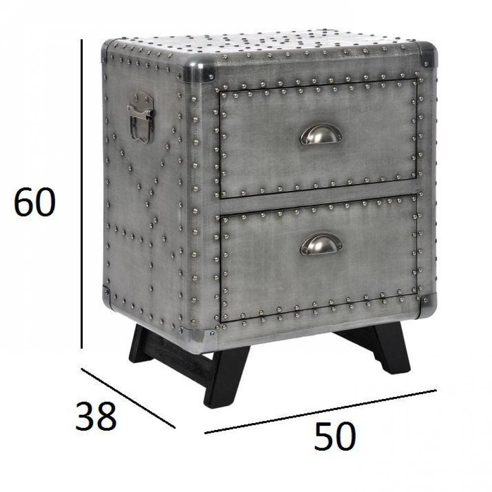 chevets meubles et rangements chevet amandine style industriel inside75. Black Bedroom Furniture Sets. Home Design Ideas