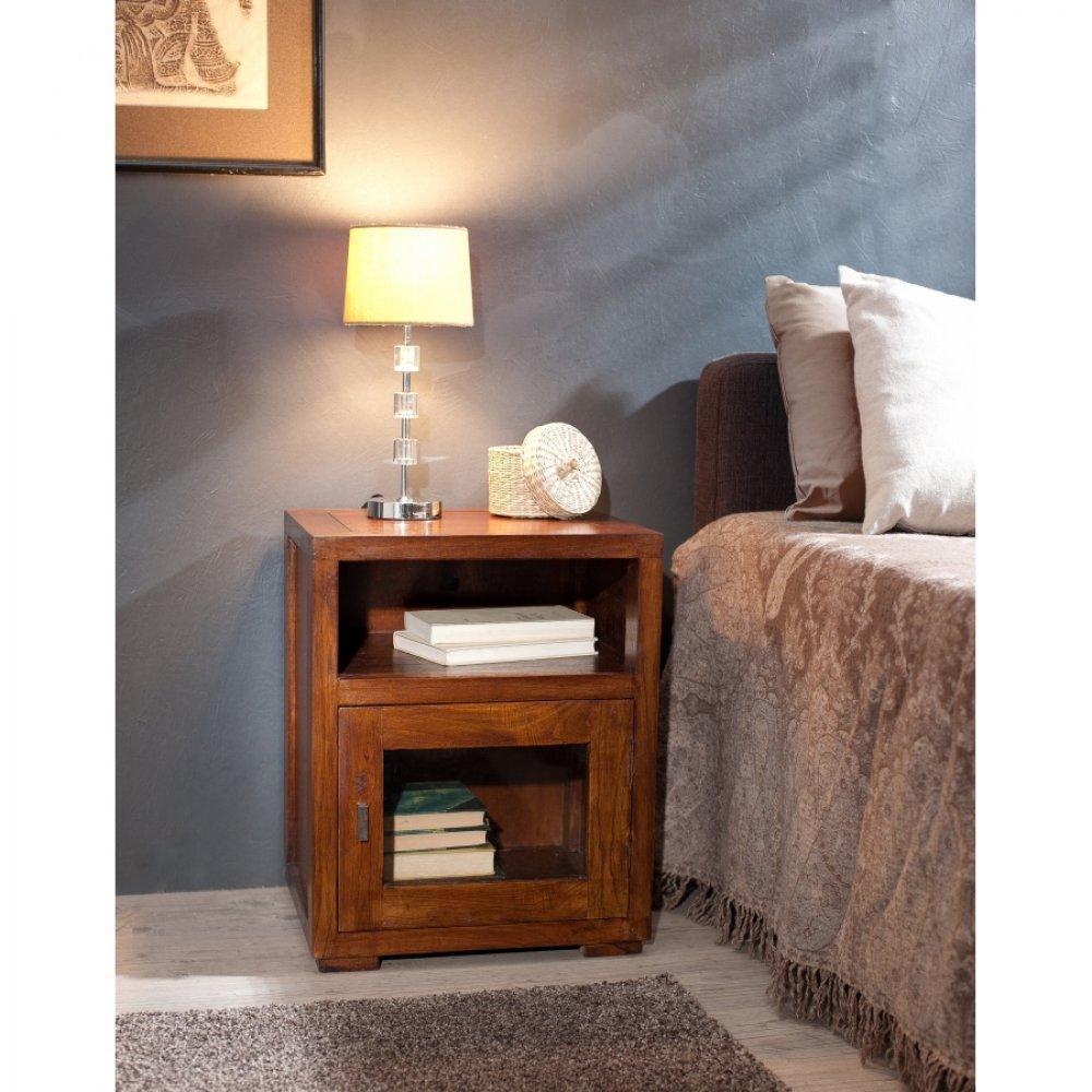chevets meubles et rangements chevet lauren 1 niche 1. Black Bedroom Furniture Sets. Home Design Ideas