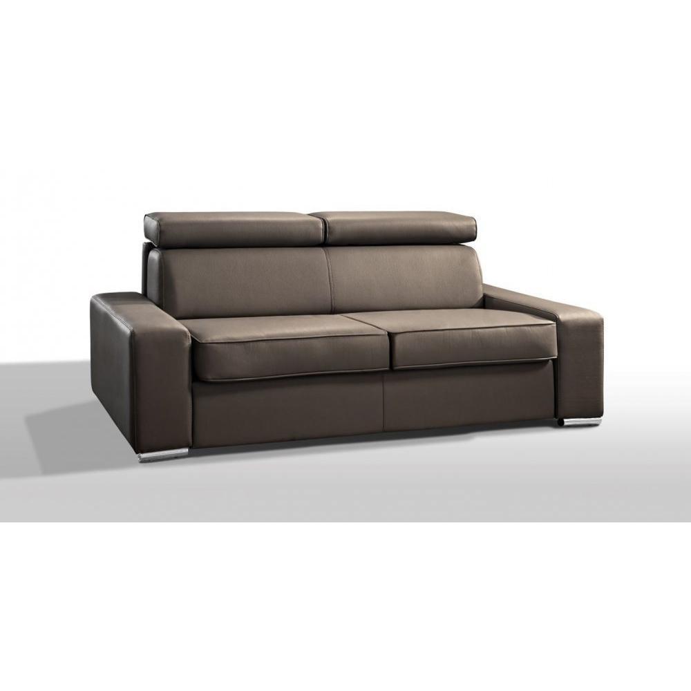 Canapé droit 4 places Tissu Moderne Confort