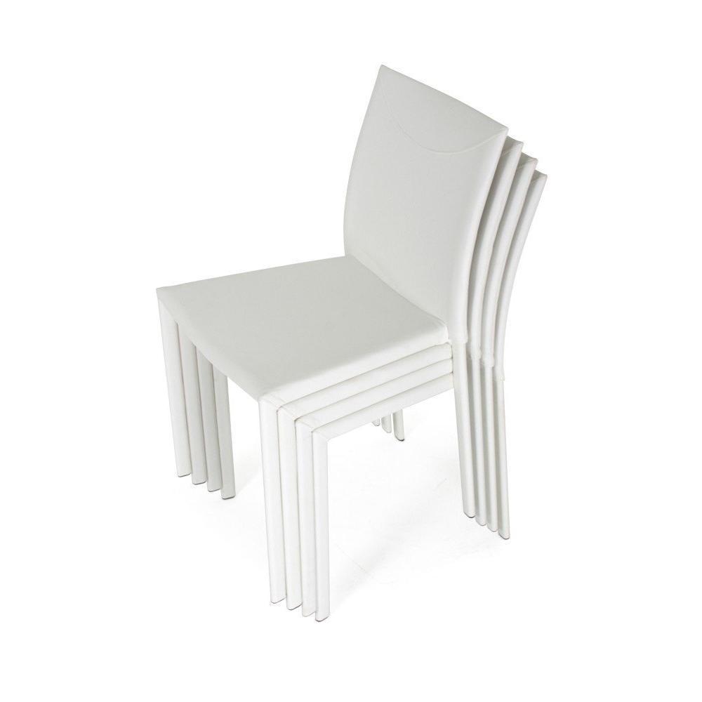 Chaise design ergonomique et stylis e au meilleur prix lot de 4 chaises empi - Chaise empilable design ...