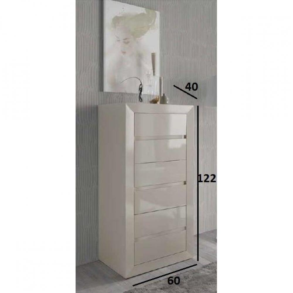 chiffonniers meubles et rangements chiffonier malaga laqu blanc mat 6 tiroirs inside75. Black Bedroom Furniture Sets. Home Design Ideas
