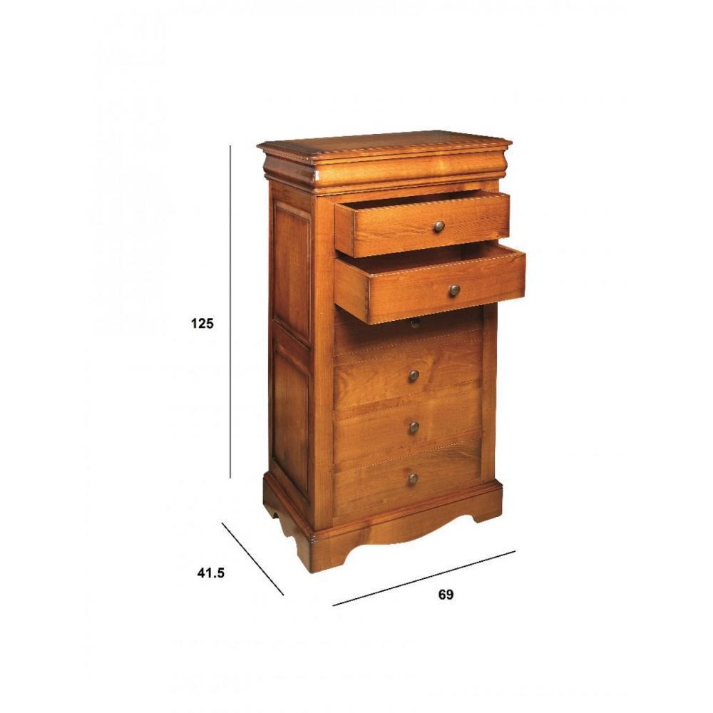 chiffonniers meubles et rangements chiffonnier fontaine 6 tiroirs en merisier inside75. Black Bedroom Furniture Sets. Home Design Ideas