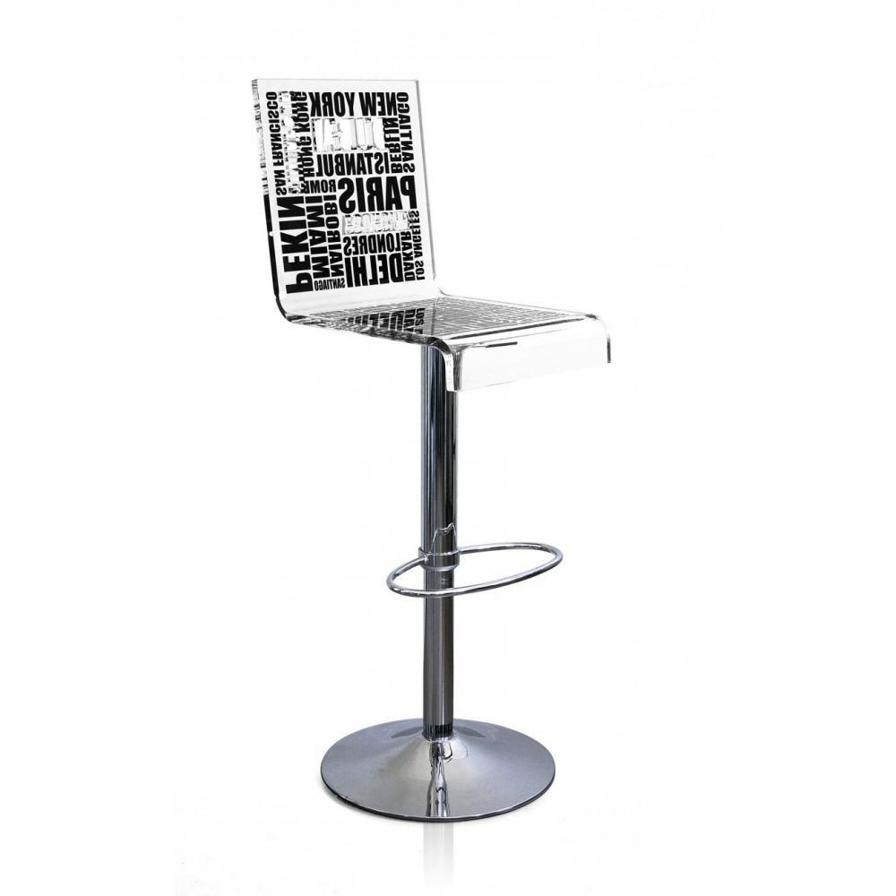 Tabouret de bar design tendance retro au meilleur prix tabouret chaise de bar city noir for Tabouret bar dossier