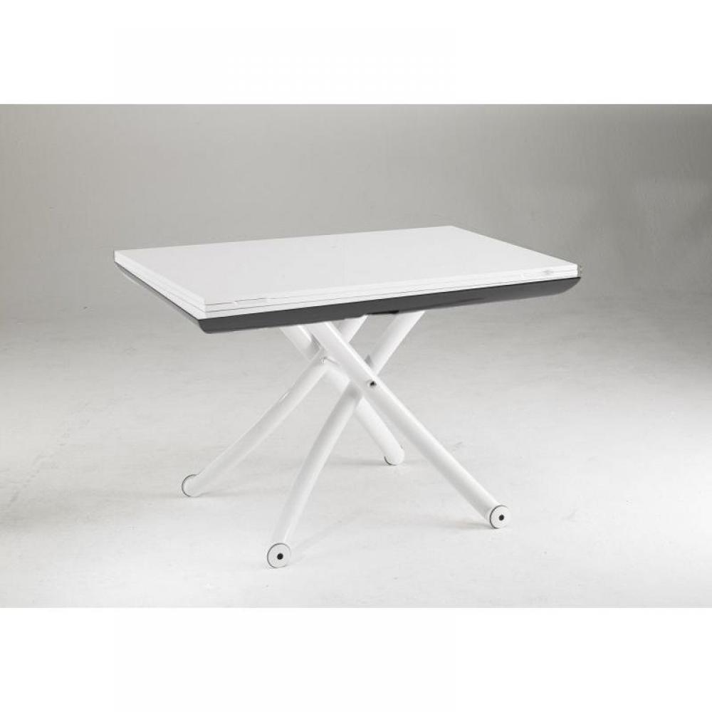 Table relevable design ou classique au meilleur prix for Table extensible blanche