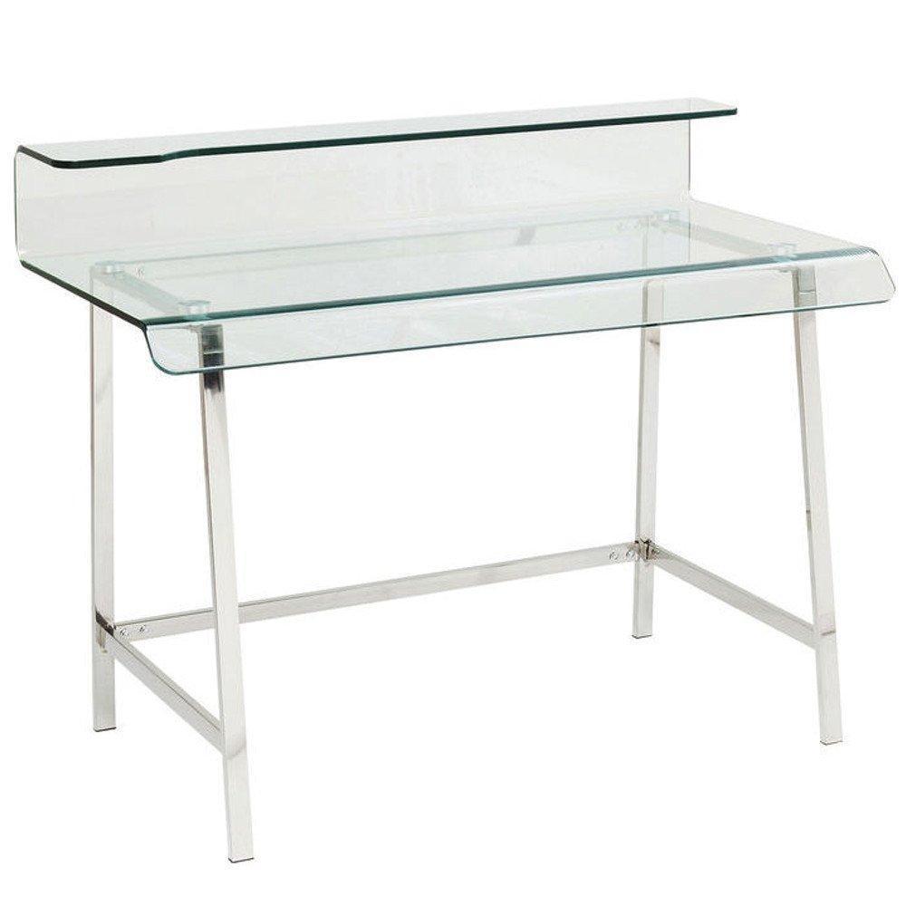 bureaux meubles et rangements bureau clear en verre et