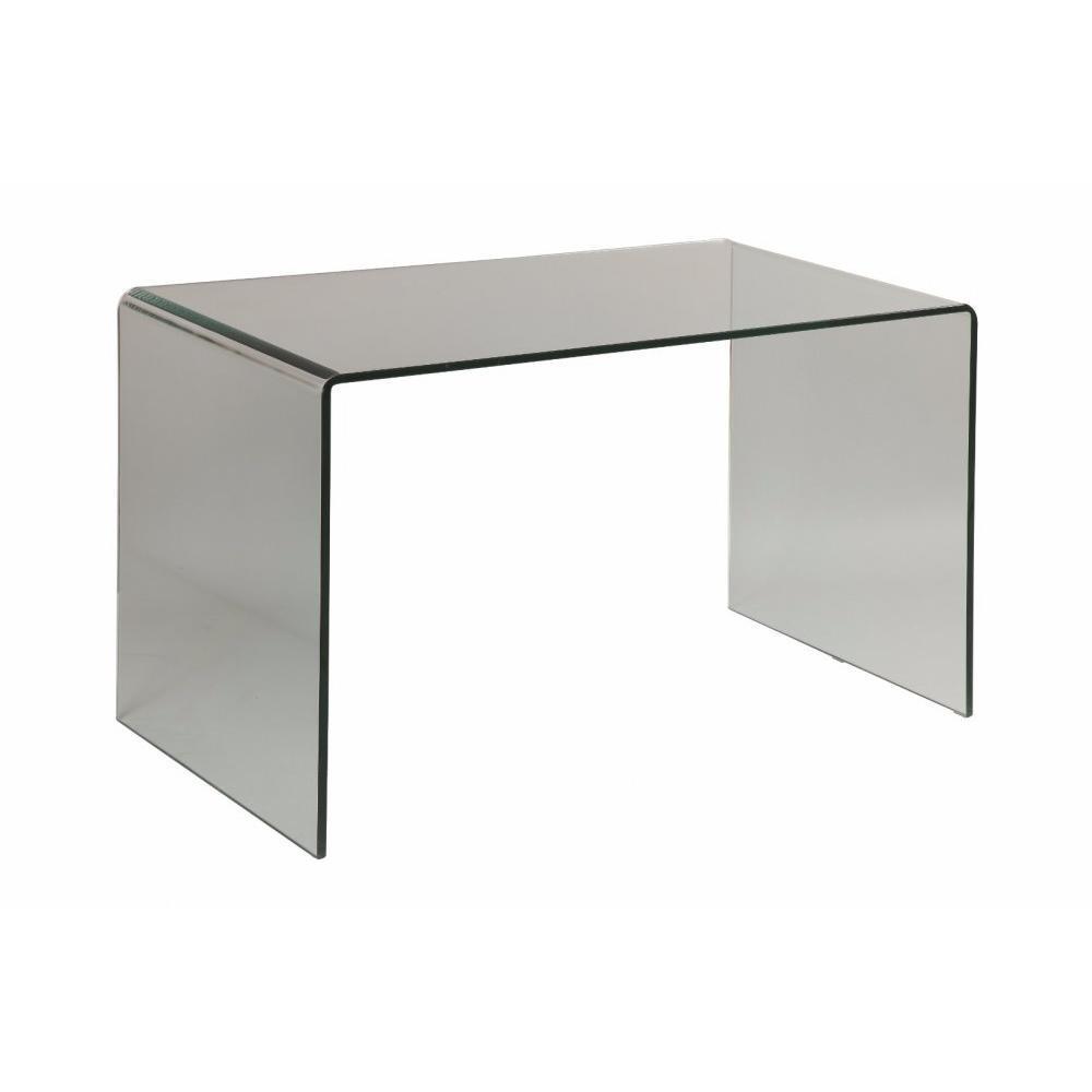 Meubles de bureau meubles et rangements clear bureau - Meuble bureau en verre ...