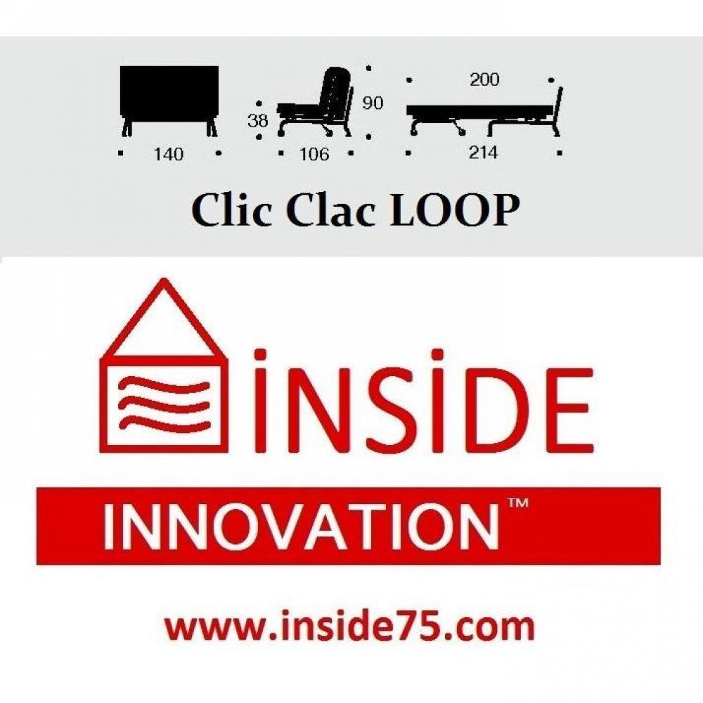 Canap s ouverture express canap lit bz loop noir design clic clac convert - Difference bz clic clac ...