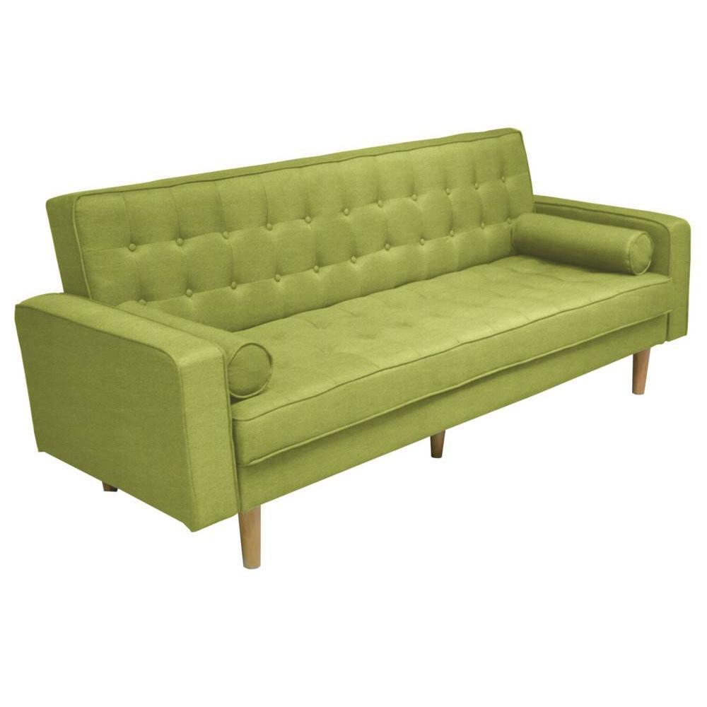 canap clic clac helsinki vert lime convertible style scandinave ebay. Black Bedroom Furniture Sets. Home Design Ideas