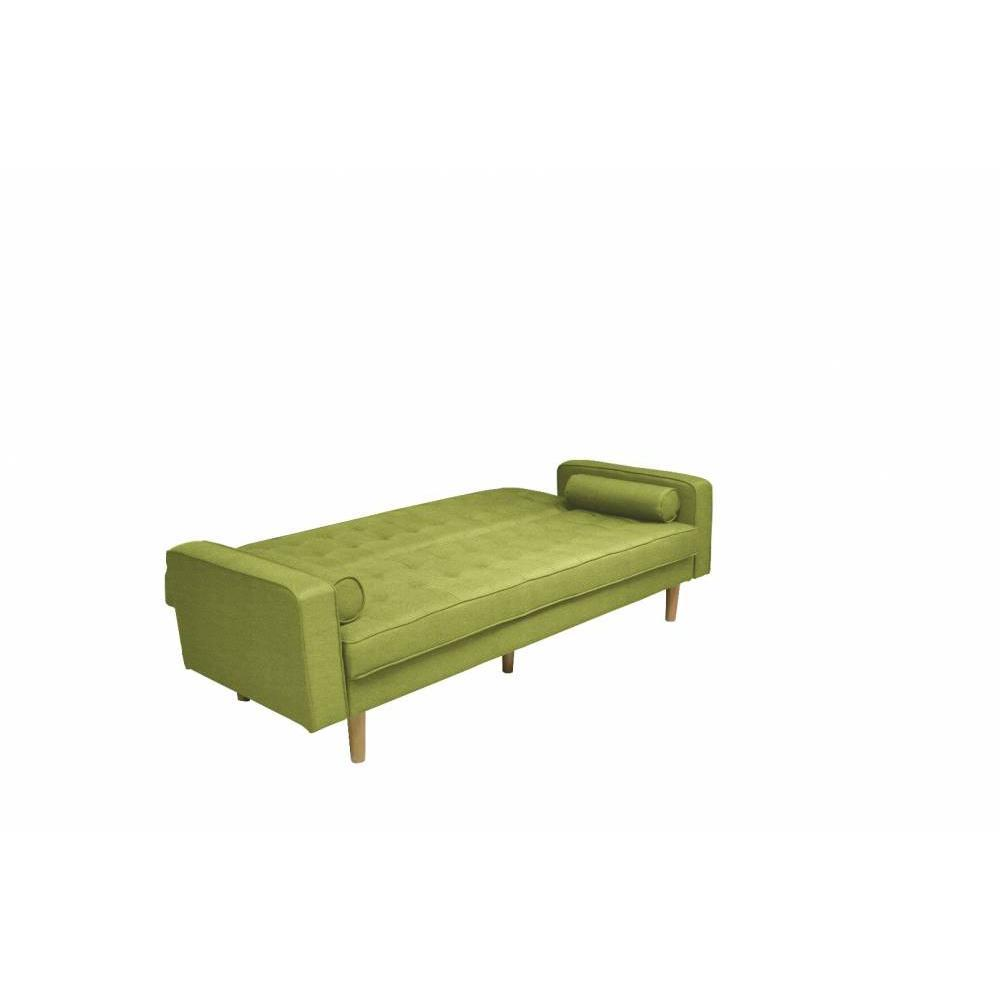 Canapé clic-clac HELSINKI vert lime convertible style scandinave