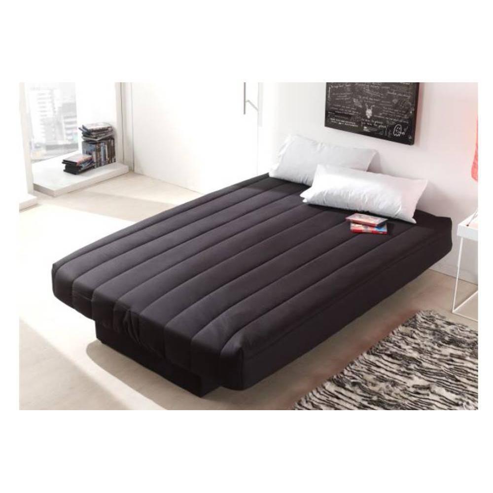 canap convertible au meilleur prix clic clac convertible lausanne couleur noir 130 190cm. Black Bedroom Furniture Sets. Home Design Ideas